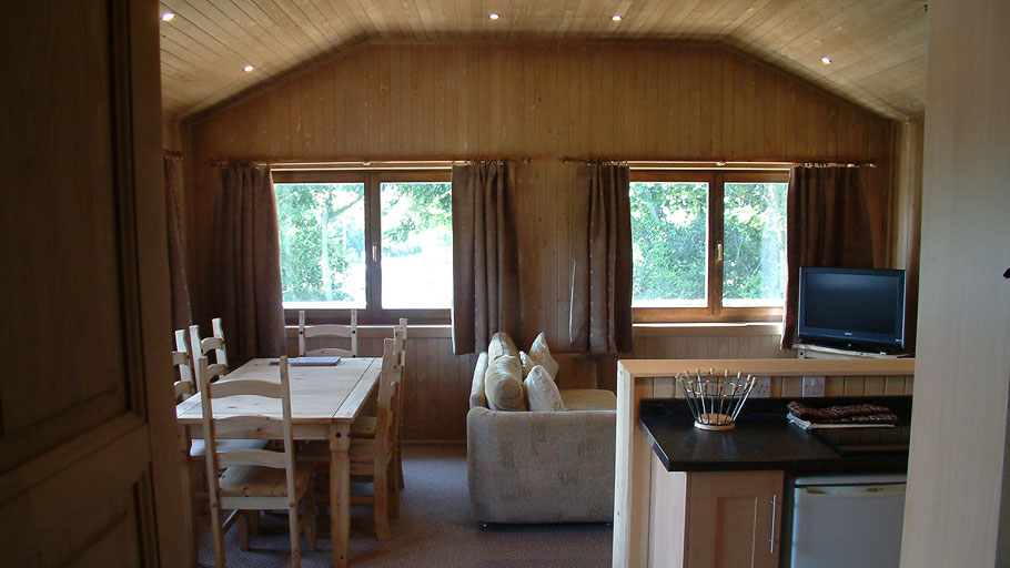 Trevilley cabin hall to lounge view